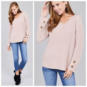 New blush sweater